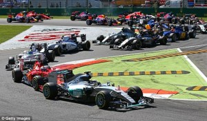 At Monza it is always tight into the first corner